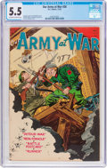 Golden Age (1938-1955):War, Our Army at War #28 (DC, 1954) CGC FN- 5.5 Off-white to white pages....