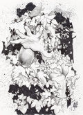 Original Comic Art:Covers, Adam Hughes Just Imagine: Green Lantern Back Cover OriginalArt (DC, 2001)....