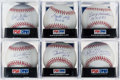 Autographs:Baseballs, Baseball Hall of Fame Single Signed Baseballs Lot of 6....