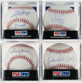 Autographs:Baseballs, 500 Home Run Club Single Signed Baseballs Lot of 4....