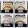 Autographs:Baseballs, New York/San Francisco Giants Greats Single Signed Baseballs Lot of4....