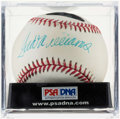Autographs:Baseballs, Ted Williams Single Signed Baseball PSA/DNA NM-MT 8. ...