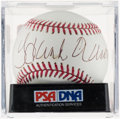 Autographs:Baseballs, Hank Aaron Single Signed Baseball, PSA/DNA Mint 9. ...