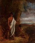Fine Art - Painting, American, Robert Walter Weir (American, 1803-1889). Last of theMohicans. Oil on canvas. 49-1/2 x 40 inches (125.7 x 101.6 cm).Si...