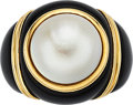 Estate Jewelry:Rings, Black Onyx, Mabe Pearl, Gold Ring . ...