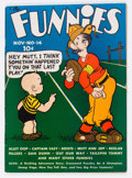 Platinum Age (1897-1937):Miscellaneous, The Funnies #14 (Dell, 1937) Condition: FN+....