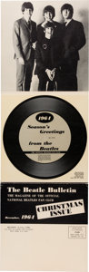 Music Memorabilia:Recordings, Beatles Seasons Greetings From The Beatles US Christmas 1964Flexi Disc (Allied, 1964)....