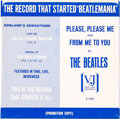 "Music Memorabilia:Recordings, Beatles ""Please Please Me / From Me To You"" US Mega-Rare PromoSleeve (Vee-Jay 581, 1964)...."