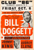Music Memorabilia:Posters, Bill Doggett Club 86 Concert Poster (1961). ...