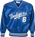 Baseball Collectibles:Others, Circa 1980 Steve Garvey Game Worn Los Angeles Dodgers Jacket. ...