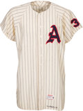 Baseball Collectibles:Uniforms, 1961 Kansas City Athletics Game Worn Jersey with Possible Attribution to Don Larsen - One Year Style. ...