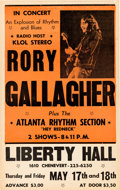 Music Memorabilia:Posters, Rory Gallagher Liberty Hall Concert Poster (1973)....