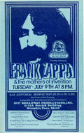 Music Memorabilia:Posters, Frank Zappa & The Mothers Of Invention Ellis Auditorium ConcertPoster (Off Broadway Production, 1974). Rare....
