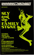Music Memorabilia:Posters, Sly And The Family Stone Paramount Northwest Concert Poster (1973).Rare....