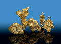 Minerals:Golds, Gold Nuggets (5 pieces). Bendigo Goldfields,. City of Greater Bendigo. Victoria, Australia. ... (Total: 5 Items)