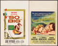 "Movie Posters:Drama, So Big & Others Lot (Warner Brothers, 1953). Window Cards (2)(14"" X 22""). Drama.. ... (Total: 2 Items)"