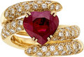 Estate Jewelry:Rings, Burma Ruby, Diamond, Gold Ring The ring featur...