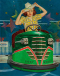 Fine Art - Painting, American, Albert W. Hampson (American, 1911-1990). Bump Mobile, TheSaturday Evening Post cover, June 22, 1940. Oil on canvas. 33...
