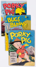 Golden Age (1938-1955):Cartoon Character, Four Color Bugs Bunny and Porky Pig Group of 4 (Dell, 1944-45)Condition: Average GD-.... (Total: 4 Comic Books)