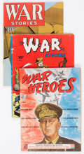 Golden Age (1938-1955):Miscellaneous, Dell Golden Age War Related Group of 5 (Dell, 1940s) Condition: Average VG.... (Total: 5 Comic Books)