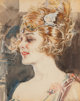 Howard Chandler Christy (American, 1872-1952) Woman Wearing Winged Tiara Watercolor on paper 13 x 10-1/4 inches (33.0