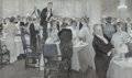 Paintings, Frank Craig (British, 1874-1918). Restaurant Scene, 1903. Ink wash, pencil, and gouache on paper. 17 x 29 inches (43.2 x...