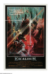 "Excalibur (Warner Brothers, 1981). One Sheet (27"" X 41""). A violent updating of the King Arthur legend from di..."