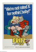 "Movie Posters:Animated, Fritz the Cat (AIP, 1972). One Sheet (27"" X 41""). ""Hey, yeah - the1960s? Happy times, Heavy times."" The first X-rated anima..."