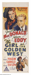 """Movie Posters:Musical, The Girl of the Golden West (MGM, 1938). Australian Daybill (15"""" X 40""""). """"I hope I'll see you again sometime too. Dangling o..."""