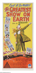 "Movie Posters:Drama, The Greatest Show On Earth (Paramount, 1952). Australian Daybill(13"" X 30""). Cecil B. DeMille's Best Picture Oscar-winner h..."