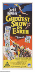 """Movie Posters:Drama, The Greatest Show On Earth (Paramount, 1952). Australian Daybill(13"""" X 30""""). All the hoopla, romance and intrigue of a thre..."""