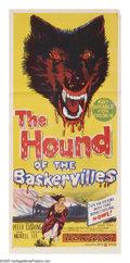 "Movie Posters:Crime, The Hound of the Baskervilles (United Artists, 1959). AustralianDaybill (13"" X 30""). ""This is, I think, a two-pipe problem...."