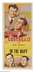 "Movie Posters:Comedy, In the Navy (Universal, 1941). Australian Daybill (13"" X 30""). 7 x 13 = 28. Don't believe it? Just watch this film and you'l..."