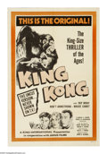 "Movie Posters:Horror, King Kong (RKO, R-1960s). One Sheet (27"" X 41""). ""Ladies and gentlemen, look at Kong, the Eighth Wonder of the World."" Monst..."