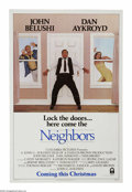 """Movie Posters:Comedy, Neighbors (Columbia, 1981). One Sheet (27"""" X 41""""). A man's attempts to life a quiet life in suburbia are endangered when his..."""