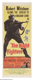 """Movie Posters:War, The Night Fighters (United Artists, 1960). Insert (14"""" X 36""""). During WWII, the I.R.A. favored Nazi Germany because they opp..."""