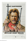 "Movie Posters:Western, The Outlaw Josey Wales (Warner Brothers, 1976). One Sheet (27"" X 41""). ""Dyin' ain't much of a living, boy."" Clint Eastwood, ..."