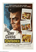 "Movie Posters:War, The Outsider (Universal International, 1962). One Sheet (27"" X41""). Tony Curtis is Ira Hayes, a Pima Indian who was one of ..."