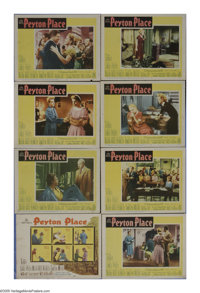 """Peyton Place (20th Century Fox, 1957). Lobby Card Set of 8 (11"""" X 14""""). A woman thinks back on the New England..."""