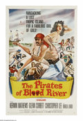 "Movie Posters:Adventure, The Pirates of Blood River (Columbia, 1962). One Sheet (27"" X 41"").Young Jonathan Standing (Kerwin Mathews) is kidnapped by..."