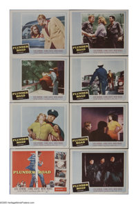 "Plunder Road (20th Century Fox, 1957). Lobby Card Set of 8 (11"" X 14""). Five thieves rob a U.S. Mint train shi..."