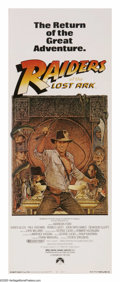 "Movie Posters:Adventure, Raiders of the Lost Ark (Paramount, R-1982). Insert (14"" X 36""). Archaeologist Indiana Jones (Harrison Ford) goes looking fo..."