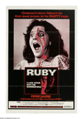 "Movie Posters:Horror, Ruby (Dimension Films, 1977). One Sheet (27"" X 41""). Ruby Claire (Piper Laurie) is the pregnant girlfriend of mobster Nicky ..."