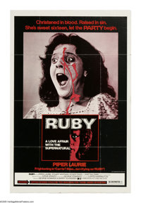 "Ruby (Dimension Films, 1977). One Sheet (27"" X 41""). Ruby Claire (Piper Laurie) is the pregnant girlfriend of..."