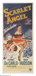 "Movie Posters:Adventure, Scarlet Angel (Universal International, 1952). Australian Daybill(13"" X 30""). After stealing sea captain Frank Truscott's (..."