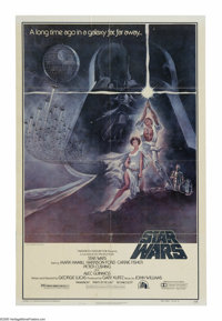 "Star Wars (20th Century Fox, 1977). One Sheet (27"" X 41""). George Lucas' mythological sci-fi adventure has pas..."