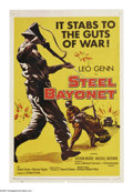 """Movie Posters:War, Steel Bayonet (United Artists, 1957). One Sheet (27"""" X 41""""). Duringthe North Africa campaign in WWII, Major Gerrard (Leo Ge..."""