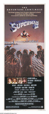 """Superman II (Warner Brothers, 1980). Insert (14"""" X 36""""). Three outlaws from the planet Krypton are released fr..."""