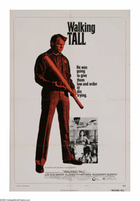 "Walking Tall (Cinerama Releasing, 1973). One Sheet (27"" X 41"") and Lobby Card Set of 8 (11"" X 14"")..."