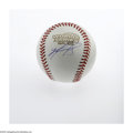 Autographs:Baseballs, David Ortiz 2004 World Series Single Signed Baseball, PSA Mint+9.5. A gorgeous side panel signature of the Red Sox outfiel...